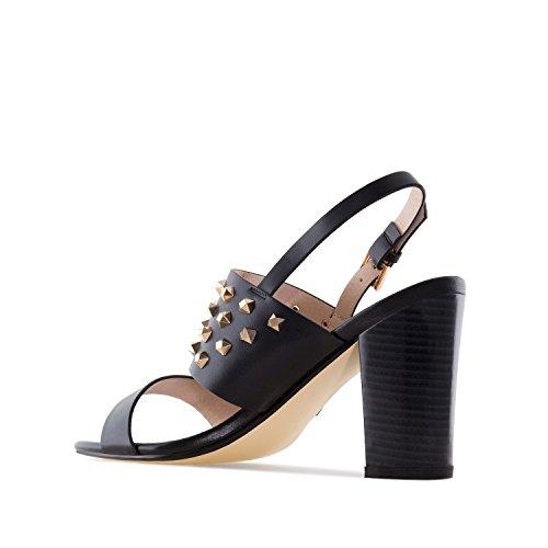 Andres Machado AM5283 - Sandalette mit Dekorativen Nieten.EU 32 bis 35/42 bis 45 Soft Schwarz