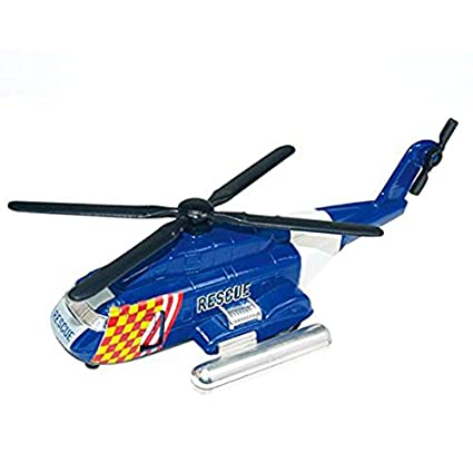 IndusBay Alloy Die-cast Metal Army Helicopter Military Airplane with Pullback Feature Rescue Chopper Cargo Helicopter Toy for Kids Boys - Blue