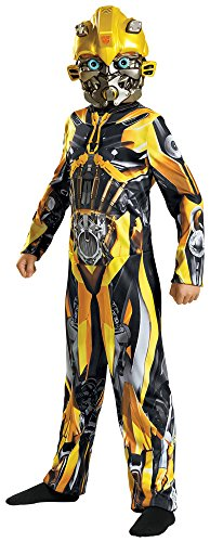 Disguise Boy's Bumblebee Classic Movie Theme Fancy Dress Child Halloween Costume, Child L (10-12) -
