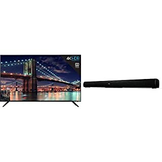 TCL 55R617 55-Inch 4K Ultra HD Roku Smart LED TV (2018 Model) with TCL Alto 5 2.0 Channel Home Theater Sound Bar - TS5000 (B07QTFBR5J) | Amazon price tracker / tracking, Amazon price history charts, Amazon price watches, Amazon price drop alerts