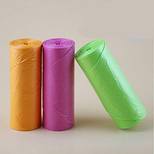 Small Trash Bags, Compost Bags Trash Can Liner Trash Bags for Home Office Restaurant Hotel Kitchen Cleaning Supplies, 5 Rolls Fit For Small Garbage Can (Black)