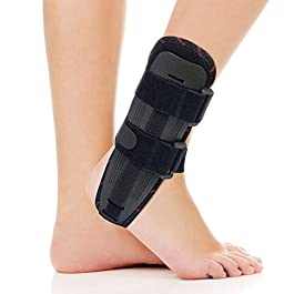 ORTONYX Ankle Stabilizer Brace Stabilizing Stirrup Splint – One Size Fits Most – Black