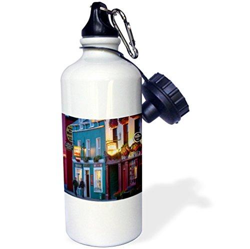 3dRose Danita Delimont - Ireland - Pubs along Strand Street, Dingle, County Kerry, Republic of Ireland - 21 oz Sports Water Bottle (wb_249168_1) County Street Sign