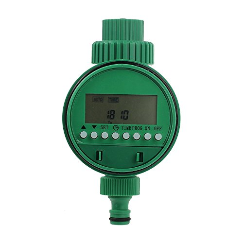 Water Timer Kamtop 3/4' 19mm Thread Automatic Irrigation Timer with LCD Display 1m - 9h 59m Digital Watering Timer Automatic Irrigate for Garden Greenhouse Plant Grass