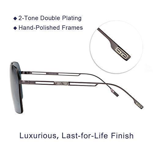 VIVIENFANG Premium Aviator Sunglasses for Men (Upgraded Nylon Lens, Ultra-Lightweight), Luxury Street Fashion Collection