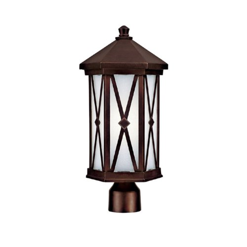 Capital Lighting 9876BB-GU Outdoor Fixture with Frosted Seeded Glass Shades, Burnished Bronze Finish