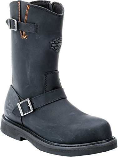 (Harley-Davidson Men's Jason ST Engineer Safety Boot, Black, 10 M US)