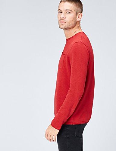 Bordures Roulées À En burgundy Pull Rouge Find Homme Maille wqB7CHHI