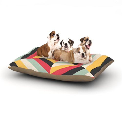 Kess InHouse Danny Ivan ''On Call'' Red Yellow Fleece Dog Bed, 30 by 40-Inch by Kess InHouse