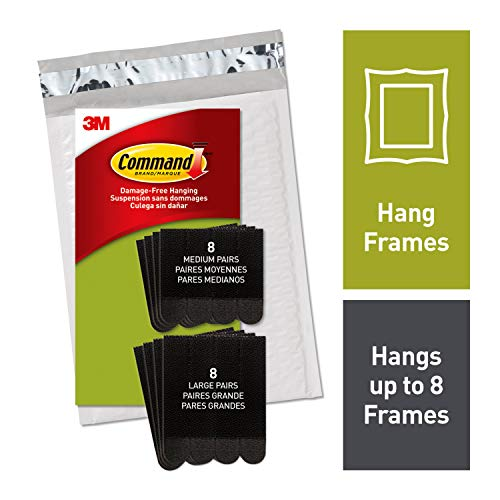 Command Black Medium & Large Picture Hanging Strips, Indoor Use, Ships In Own Container (PH209BLK-16NA)