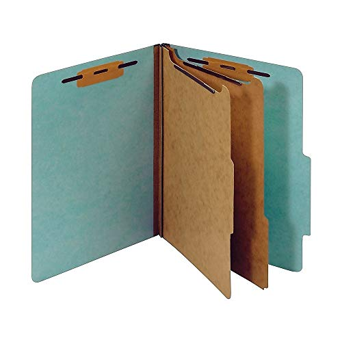 (Staples Colored Pressboard Classification Folders, Letter, 2 Partitions, Light Blue, 20/Pack)