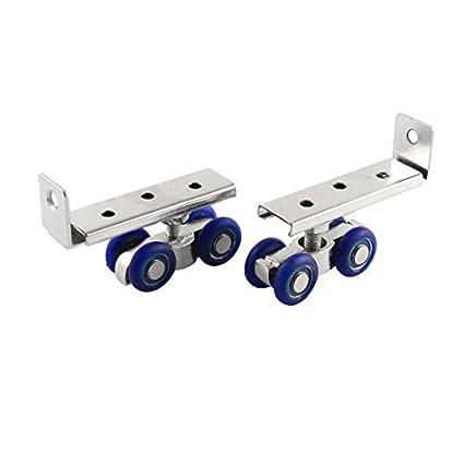 19 mm Diámetro ruedas Ducha 2pcs rodillos de la puerta corredores Polea - - Amazon.com