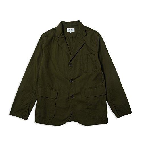 (ソンタク) SONTAKU 洗える3つ釦ジャケット(内ポケットあり) 871HD99985 B07BZDKR9F S オリーブ オリーブ S
