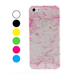 LCJ Classic Silk Print Design with Fluorescent Light Plastic Hard Case for iPhone 5/5S , Yellow