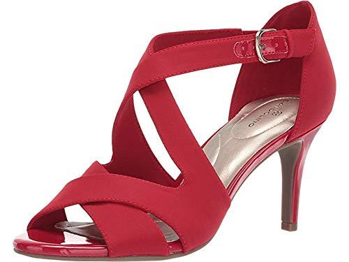Bandolino Women's JERIGOA Heeled Sandal, Red, 8 Medium ()