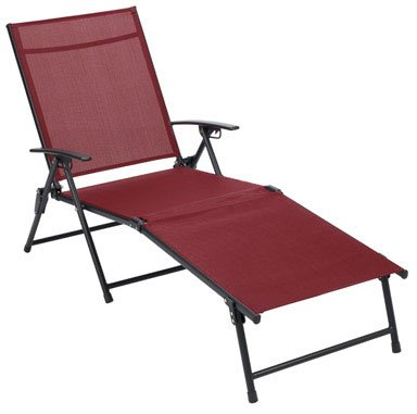 (FOLDING SLING CHAISE RED by LIVING ACCENTS MfrPartNo ZS156180)