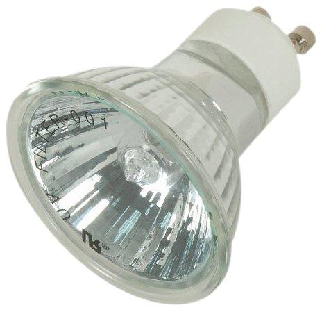 Satco S4190 20 Watt MR16 Halogen GU10 Base 120 Volt No Back Light 38° Degree Flood No Harmful Ultraviolet Rays Aluminum Back Light Bulb, With ()