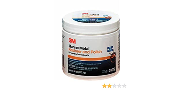 18-ounce Paste Business & Industrial Bright 3m 09019 Marine Metal Restorer And Polish