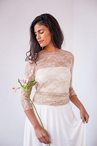 Amazon.com: Lace shrug, golden lace shrug, golden lace bolero, convertible lace jacket, shrugs & boleros, golden lace cover up, versatile lace wrap top: ...