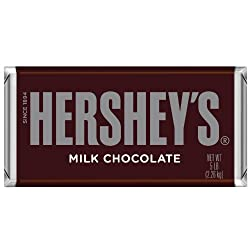 Hershey's Chocolate Bar, Milk Chocolate Candy Bar, 5 Pound Bar