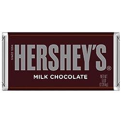 Hershey's Chocolate Bar, Milk Chocolate Candy Bar, 5 Pound Bar