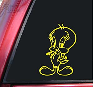 "Tweety Vinyl Decal Sticker (6"" X 4.3"", Yellow)"