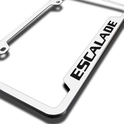 Cadillac Escalade Brushed Stainless Steel Auto License Plate Frame Au-Tomotive Gold INC AG-GF-ESA-ES