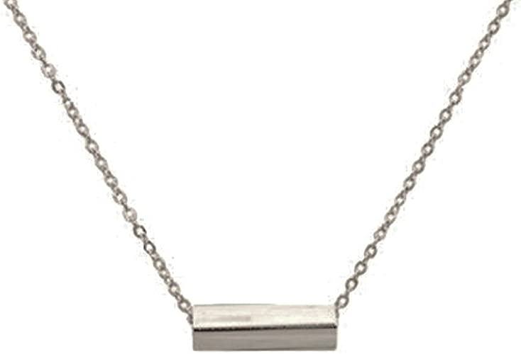 """Oxidized Rectangle Link Chain /""""16 Sterling Silver .925"""