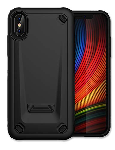 """Romozi iPhone XR Case with Ultra Hybrid Designed,Rubber Case Shockproof Rugged Armor Cover Anti-Fall Heavy Duty Protection, Non-Slip TPU Soft Touch Phone Case for iPhone Xr(6.1"""" Inch) - Black"""
