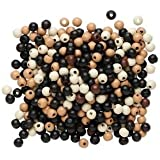 500pc Eco-friendly Wood Beads, 7-8mm, Mixed Colors