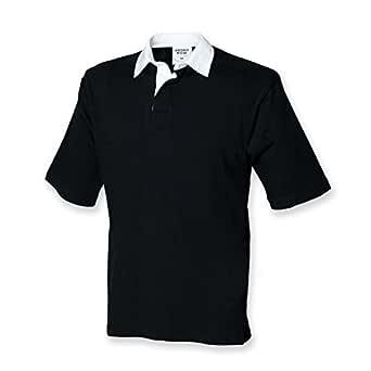 Front Row Camiseta de Rugby de Manga Corta para: Amazon.es: Ropa y ...