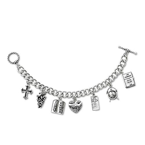 - Sterling Silver Answered Prayer 7.5in Locket Charm Bracelet