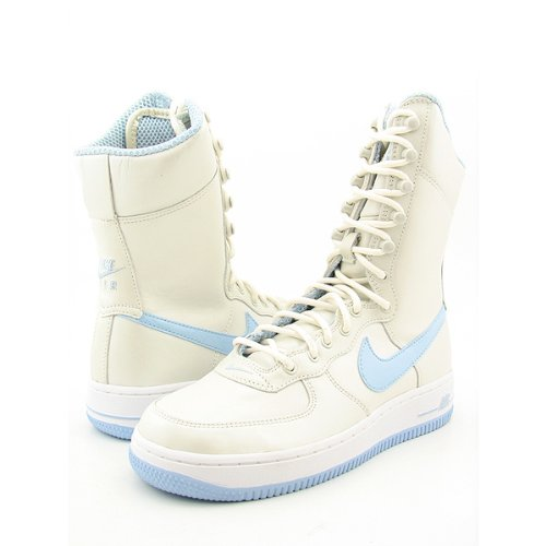 competitive price bb0b1 82605 Nike Air Force 1 6 Inch Women 314389 - 141 White de Ice Blue Tamaño Euro  40US 8,5UK 625,5 cm Amazon.es Deportes y aire libre