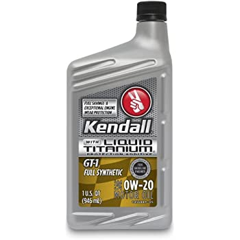kendall 1057222 gt 1 full synthetic 0w 20 motor oil with liquid titanium 1 quart. Black Bedroom Furniture Sets. Home Design Ideas
