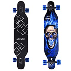 Slendor longboard skateboard is the perfect choice for anyone wanting all the benefits of a standard drop through but with a tighter turning radius. Whether you're weaving through people or cones this little carver will definitely do the tric...