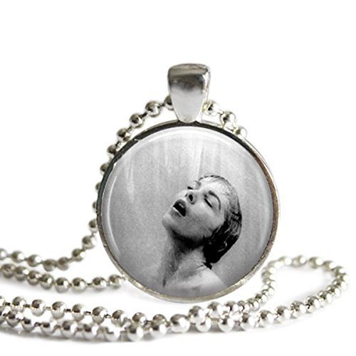 Alfred Hitchcock's Psycho Shower Scene Silver Plated Photo Pendant Necklace