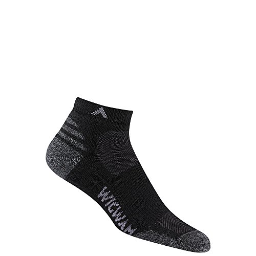 Wigwam Quarter Socks - Wigwam F2427 Men's Merino Lite Quarter Socks, Black - LG