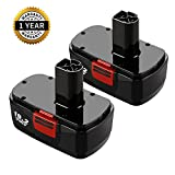 2 Pack 19.2V Ni-Mh Replacement for Craftsman 19.2 Volt Battery DieHard C3 Battery 3.0Ah for Craftsman 1323903 130279005 11375 11376 120235021 315.115410 315.11485