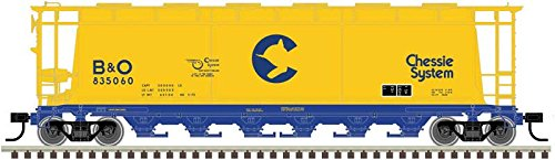 Chessie 6-Bay Cylindrical Covered Hopper #835058 HO Scale