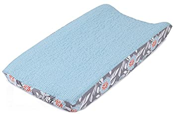 Balboa Baby Quilted Changing Pad Cover, Aqua/White Dot