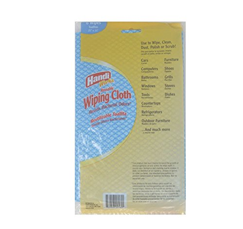 Handi-Works 00560 Reusable, Washable Synthetic Wiping and Cleaning Cloths, 24-Pack of 6-Count Bags, 144 Total Cloths - - Amazon.com