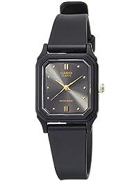 Casio Women's Core LQ142E-1A Black Resin Analog Quartz Watch with Black Dial