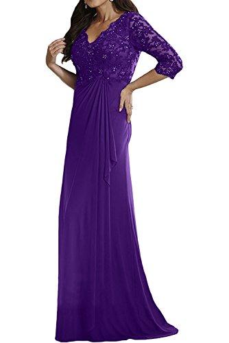 Brautmutterkleider mit Damen Festlichkleider Gruen Langarm Abendkleider Damen Jaeger Violett Langes Charmant Spitze YqwZgXR