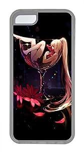 iPhone 5c case, Cute Girls In Red Wine iPhone 5c Cover, iPhone 5c Cases, Soft Clear iPhone 5c Covers