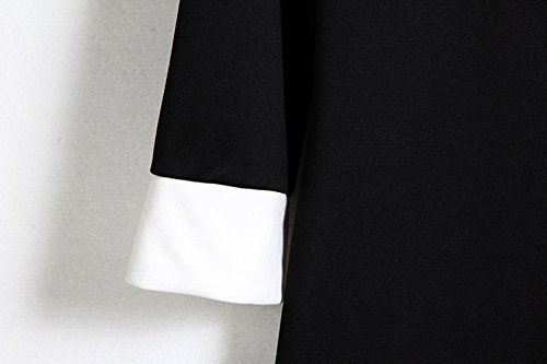 LOBZON Damen Cocktail Kleid schwarz schwarz