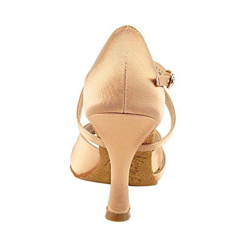 Chaussures Pigeon Or 50 Nuances De Chaussures De Danse Tan Collection-iii, Chaussures De Mariage De Soirée Confort, Chaussures De Salon Pour Latin, Tango, Salsa, Swing, Art De La Theather De 50 Nuances (s92307 Tan Satin)