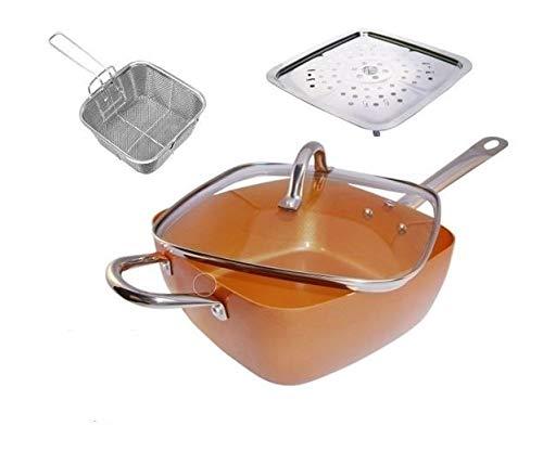 Appetitissime Multi Cook DLux Sartén Cerámica con Accesorios, Aluminio, Cobrizo, 24 cm: Amazon.es: Hogar