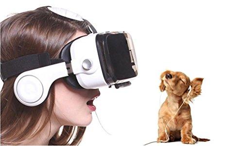 [해외]Nola Sang 3D 가상 현실 안경 Iphone과 VR 헤드셋 Android 블루투스 원격 제어 파노라마 감상 영화 비디오 및 3D 몰입 형 게임 4/Nola Sang 3D Virtual Reality Glasses VR Headset with Iphone Android Bluetooth Remote Control Panoramic Watchin...