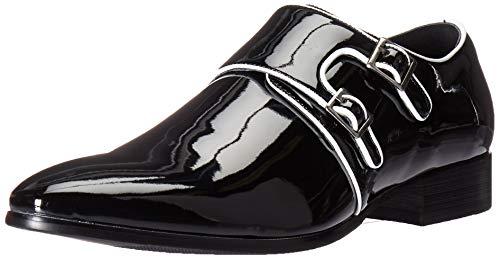 STACY ADAMS Mens Valens Plain Toe Double Monk Strap Tuxedo Loafer
