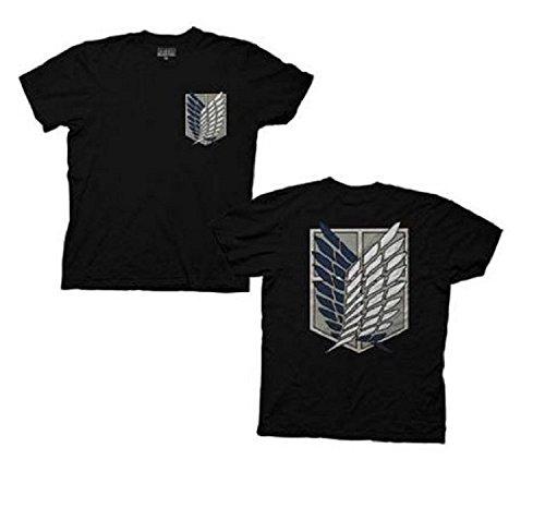 Ptshirt.com-19185-Attack On Titan Survey Corps Men Black T-shirt-B00IOAQCOQ-T Shirt Design